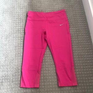 Nike Pink Running Crops
